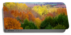 River Bottom In Autumn Portable Battery Charger