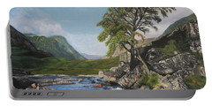 River Coe Scotland Oil On Canvas Portable Battery Charger