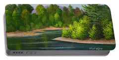 Portable Battery Charger featuring the painting River Confluence by Frank Wilson