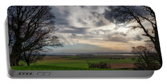 Portable Battery Charger featuring the photograph River Forth View From Clackmannan Tower by Jeremy Lavender Photography