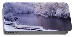 River In Winter Portable Battery Charger