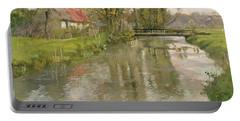 River Landscape Portable Battery Charger