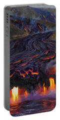 River Of Fire - Kilauea Volcano Eruption Lava Flow Hawaii Contemporary Landscape Decor Portable Battery Charger