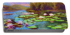The Wonder Of Water Lilies Portable Battery Charger
