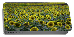 River Of Sunflowers Portable Battery Charger