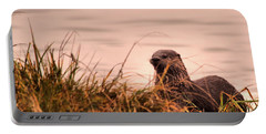 River Otter Hanging Out Portable Battery Charger