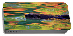 River Otter In Autumn Reflections Portable Battery Charger