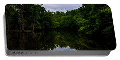Portable Battery Charger featuring the digital art River Reflections by Chris Flees