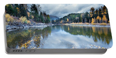 Portable Battery Charger featuring the photograph River Reflections by Fran Riley