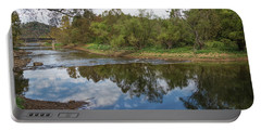Portable Battery Charger featuring the photograph River Reflections by John M Bailey