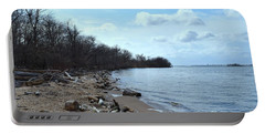 Delaware River Shoreline Portable Battery Charger