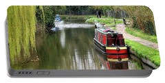 Portable Battery Charger featuring the photograph River Stort In April by Gill Billington