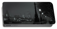 Portable Battery Charger featuring the photograph River Thames Embankment, London 2 by Perry Rodriguez
