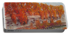 River Tiber In Fall Portable Battery Charger