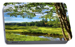 Portable Battery Charger featuring the photograph River Under The Maple Tree by David Patterson