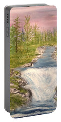 River With Falls Portable Battery Charger
