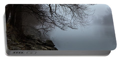 Riverbank In The Fog Portable Battery Charger