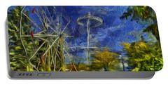 Riverfront Park - Pavilion And Ferris Wheel Portable Battery Charger