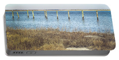 Portable Battery Charger featuring the photograph River's Edge by Colleen Kammerer