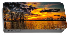 Portable Battery Charger featuring the photograph Riverview Beach Park Sunset by Nick Zelinsky