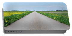 Portable Battery Charger featuring the photograph Road In A Rural At Spring Landscape by Kennerth and Birgitta Kullman