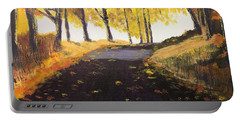Road In Autumn Portable Battery Charger
