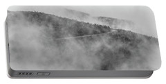 Road In Fog - Blue Ridge Parkway Portable Battery Charger