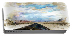 Road In The Desert Portable Battery Charger by Robert Smith