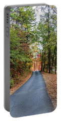 Road In The Woods Portable Battery Charger