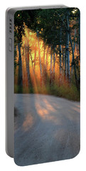 Portable Battery Charger featuring the photograph Road Rays by Shane Bechler