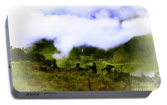 Portable Battery Charger featuring the photograph Road Through The Andes by Al Bourassa