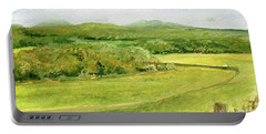 Road Through Vermont Field Portable Battery Charger