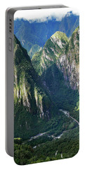 Portable Battery Charger featuring the photograph Road To Machu Picchu  by Allen Sheffield