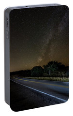 Portable Battery Charger featuring the photograph Road To The Milky Way by Andy Crawford