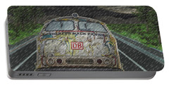 Portable Battery Charger featuring the digital art Road Trip In The Rain by Angela Hobbs