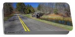 Road View Of Mabry Mill Portable Battery Charger