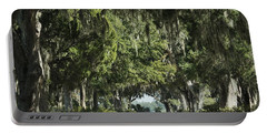Road With Live Oaks Portable Battery Charger