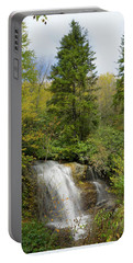 Portable Battery Charger featuring the photograph Roadside Waterfall In North Carolina by Mike McGlothlen