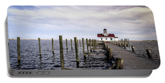 Roanoke Lighthouse - Manteo North Carolina Portable Battery Charger