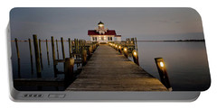 Roanoke Marshes Lighthouse Portable Battery Charger by David Sutton