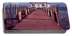 Portable Battery Charger featuring the photograph Roanoke Marshes Lighthouse by Penny Lisowski