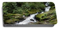Portable Battery Charger featuring the photograph Roaring Fork Falls June 2017 by Joel Deutsch