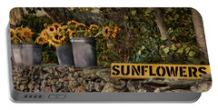 Portable Battery Charger featuring the photograph Roadside Sunshine by Robin-Lee Vieira