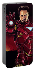 Robert Downey Jr. As Iron Man  Portable Battery Charger