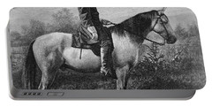 Robert E Lee On His Horse Traveler Portable Battery Charger