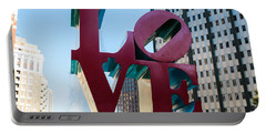 Robert Indiana Love Sculpture Portable Battery Charger