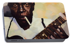 Robert Johnson Plays The Blues Portable Battery Charger by Dan Sproul