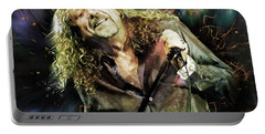 Robert Plant Portable Battery Charger by Mal Bray
