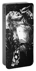 Robert Plant Portable Battery Charger by Taylan Apukovska