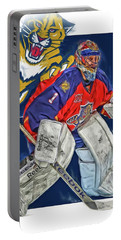 Roberto Luongo Florida Panthers Oil Art Portable Battery Charger